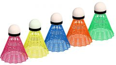 Badmintonshuttles PO / BSO Gekleurd 5 stuks