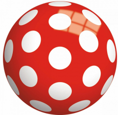 Bounceball Stippen 23cm