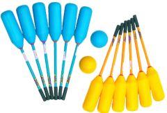 Knotsbal Set XL (12 sticks + 2 ballen)