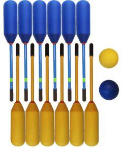 Knotsbal Set Super (12 sticks + 2 ballen) Geel / Blauw