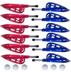 Lacrosse Set Mini Rood / Blauw