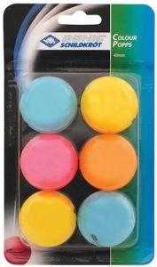 Tafeltennisballen Gekleurd Set 6st.